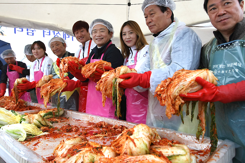 Kimchi Sharing event with gold medal heroes이미지
